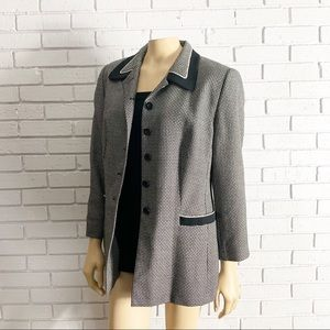 Escada by Margaretha Ley Vintage Checkered Blazer